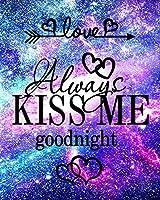 DIY 5D ダイヤモンドペインティングキット 大人用 フルドリル ダイヤモンド Love Always Kiss Me Goodnight 刺繍 ラインストーン クロスステッチ アートクラフト用品 ホームウォールデコ