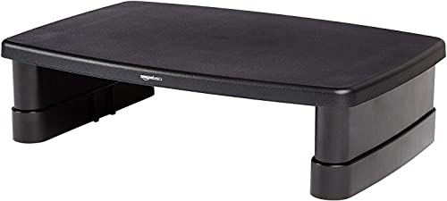 AmazonBasics Adjustable Computer Monitor Riser Desk Stand product image