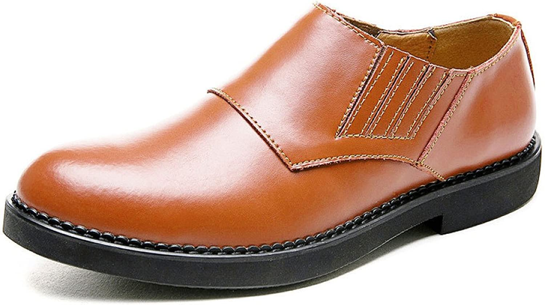 LEDLFIE Men's Leather shoes Spring Fashion Business Casual Dress shoes