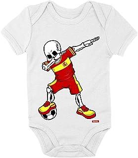 HARIZ Body de manga corta para bebé, diseño de esqueleto de España