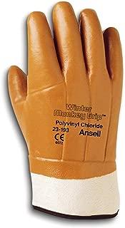 Ansell 23193 Winter Monkey Grip Vinyl-Coated, Foam-Insulated Gloves, 12