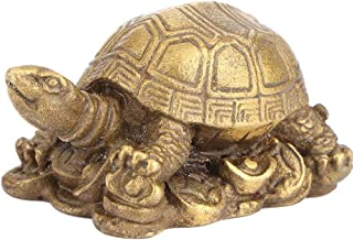 Brass Turtle Figure Brass Copper Tortoise Chinese Feng Shui God Turtle for Home Decoration Ornament Collectible Furnishing Articles