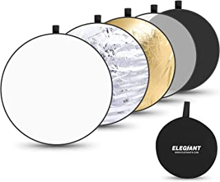 ELEGIANT 43 Inch/110 cm Light Reflectors for Photography, 5-in-1 Portable Photo Reflectors Collapsible Multi-Disc with Bag...