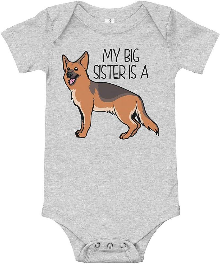 JZG Brands My Big Sister is a German Shepherd Baby Bodysuit