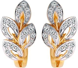 P. C. Chandra Jewellers 18k (750) Yellow Gold and Solitaire Clip-On Earrings for Women