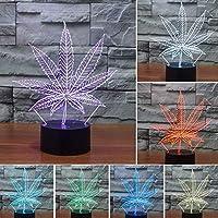 3Dイリュージョンナイトライトおもちゃクリスマス誕生日プレゼント男の子女の子16色リモコンデスクランプLEDテーブルデコレーション