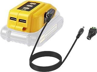LANMU Battery Adapter for Dewalt 18V/20V Lithium Ion Battery,TS100 Soldering Iron,USB Charger for Dewalt,Power Source,Powe...