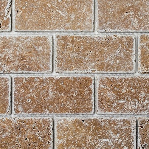 Brick Inula Noche Antique Travertine Natura del mosaico di pietra