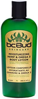 BC Bud Hemp Body Lotion, Hemp & Omega 3 Daily Body Moisturizer for Dry, Itchy or Irritated Skin, Green Tea Fragrance, Men & Women, Paraben Free, 8oz