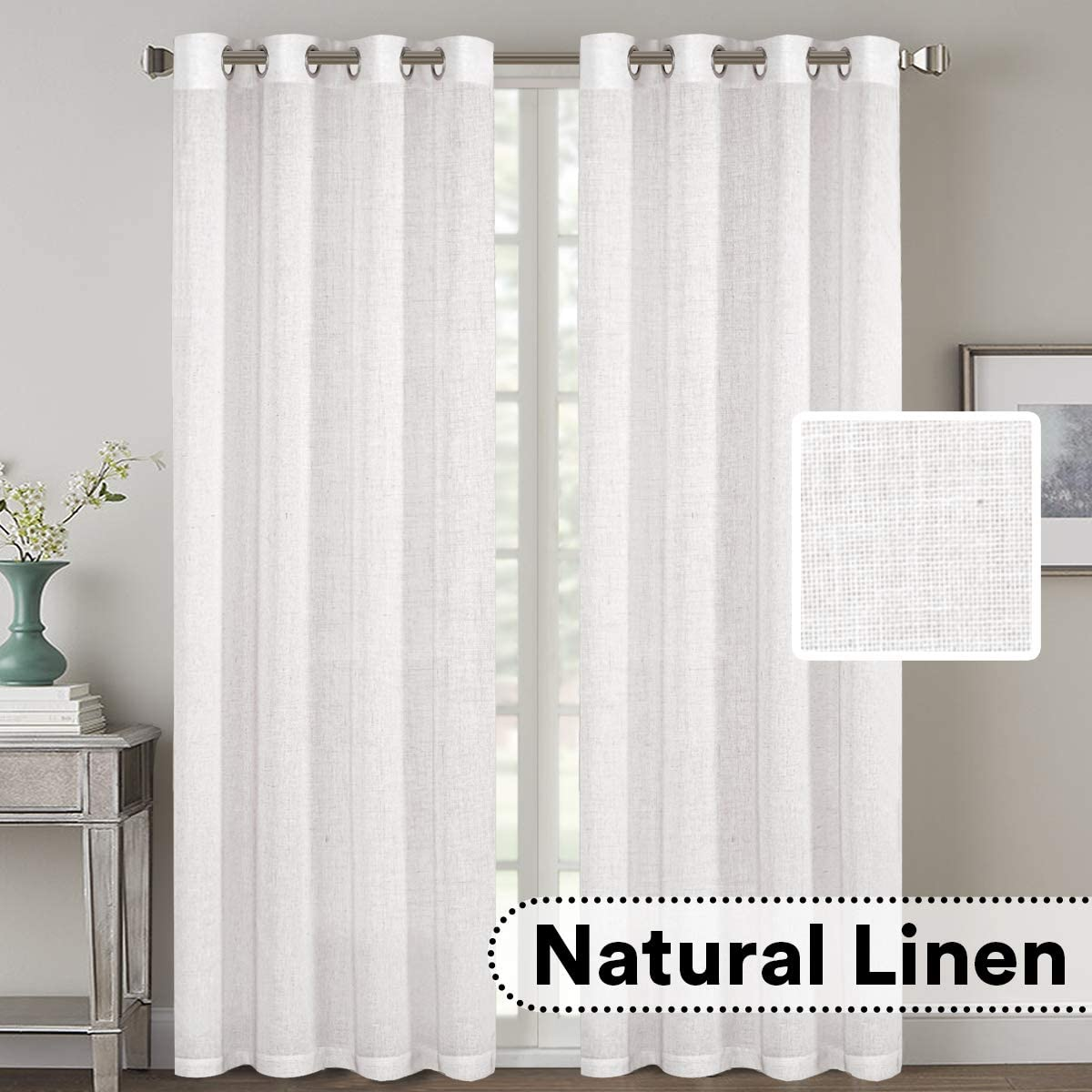 Natural Effect Extra Year-end gift Long Las Vegas Mall Curtains Made Line Rich Mater Mixed of