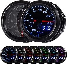 HOTSYSTEM 7 Color Turbo Boost/Vacuum Gauge Kit Pointer & LED Digital Readouts 2-1/16