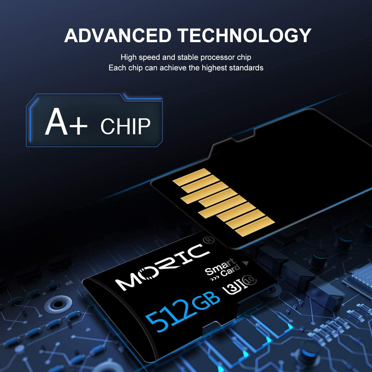 512GB Micro SD Card with a SD Card Adapter, Class 10 TF Memory Card High Speed Memory Card for Smart-Phone,Camera,PC,Mac
