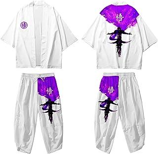 curtain Men Kimono Cardigan Jacket - Japanese Traditional Haori Cloak/Fashion Printed Jacket/Spring Summer Casual Shirt Ha...