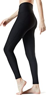 TSLA Yoga Pants Leggings Mid-Waist/High-Waist Tummy Control w Side-Pocket Series