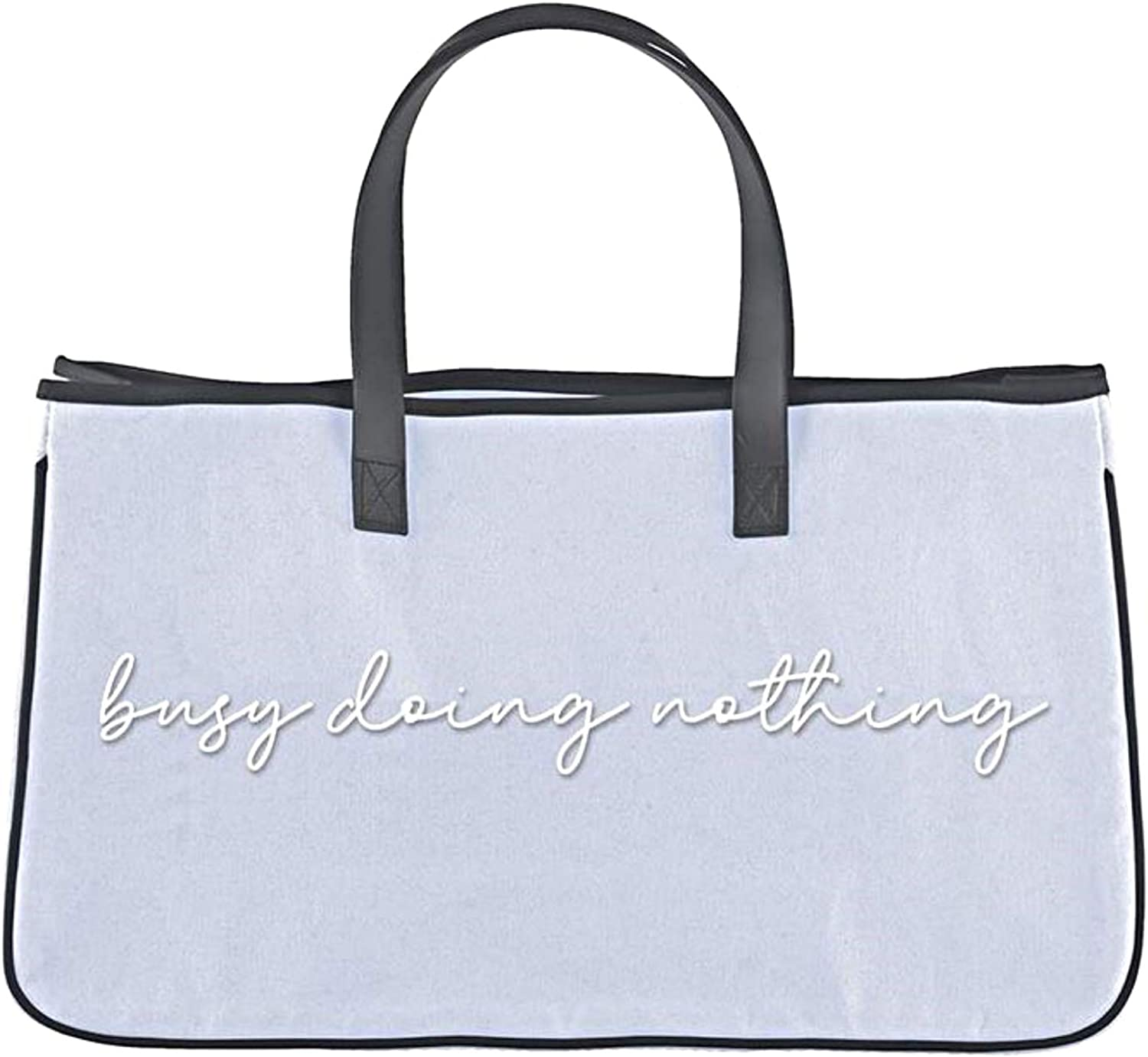 Light shop Blue Canvas Tote Bag Busy Large Doing Nothing for Purse Sales results No. 1
