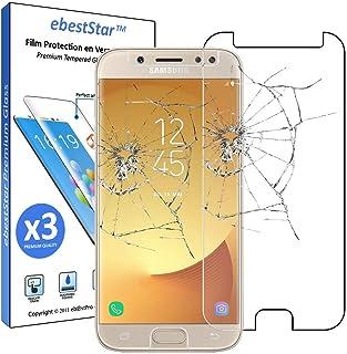 ebestStar   kompatibel mit Samsung Galaxy J7 2017 Panzerglas x3 SM J730F Schutzfolie Glas, Schutzglas Displayschutz, Displayschutzfolie 9H gehärtes Glas [Phone: 152.4 x 74.7 x 7.9mm, 5.5'']