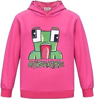 Camiseta divertida de YouTube Gamer de manga larga con capucha para niños y niñas Tees Tops Sudaderas