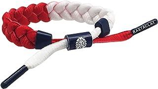 Rastaclat Stars Classic Bracelet in Red White Blue, Braided Design, One Size
