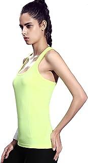 Honour Fashion タンクトップ レディース スポーツ トレーニングウェア トップス ストレッチ スポーツシャツ UVカット 吸汗速乾 ヨガウェア