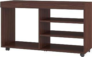BRV MÓVEIS Wooden TV Table, Nut Brown, BR 166-164