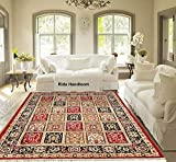 Rida Handloom Persian Carpet for Home Living Room(Maroon, Acrylic, 5 X 7 Feet)