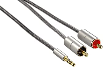 Hama AluLine Connecting Cable 3.5mm Plug to 2x RCA Plug 1 m [80864]