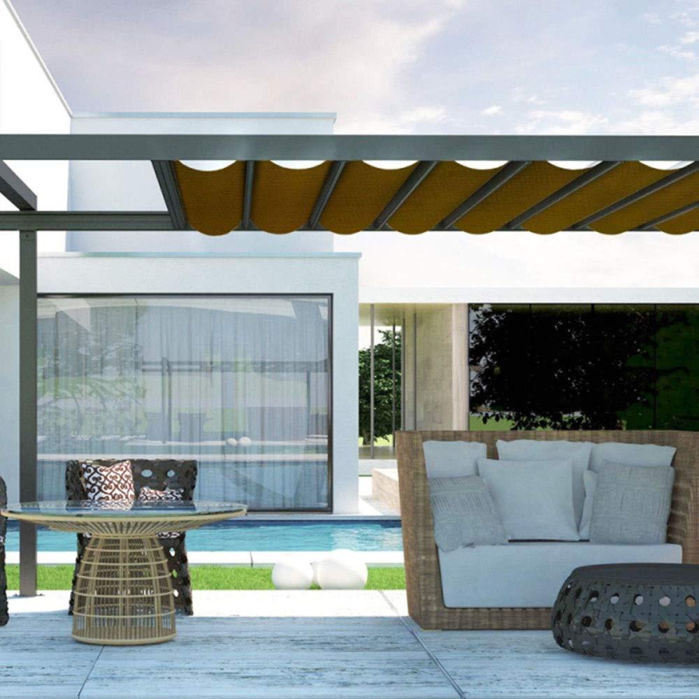 JIAYUAN sombra Solar- Marrón Red solar Sombra solar Malla Sombra Protector solar Sombra de tela Red resistente a los rayos UV para plantas de flores de jardín para invernadero Tamaño personalizado par: