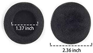 """10 Pairs 60mm/2.4"""" Replacement Foam Ear Pud Earpads Sponge Cushion Covers for Logitech H600, H330, H340 / Sony MDR-G4..."""