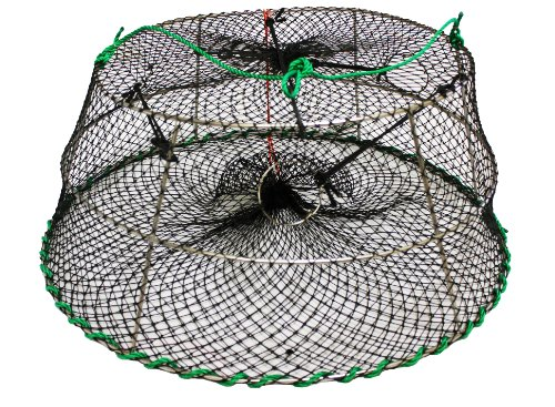 KUFA Tower style prawn trap (Size:ø30'x ø20'x 12'H),Stretched Mesh size:1-1/4'
