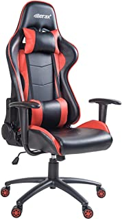 Merax Ergonomic Gaming Chair High Back Computer Desk Chair Adjustable Swivel Office Chair  w/Lumbar Support and Headrest Red