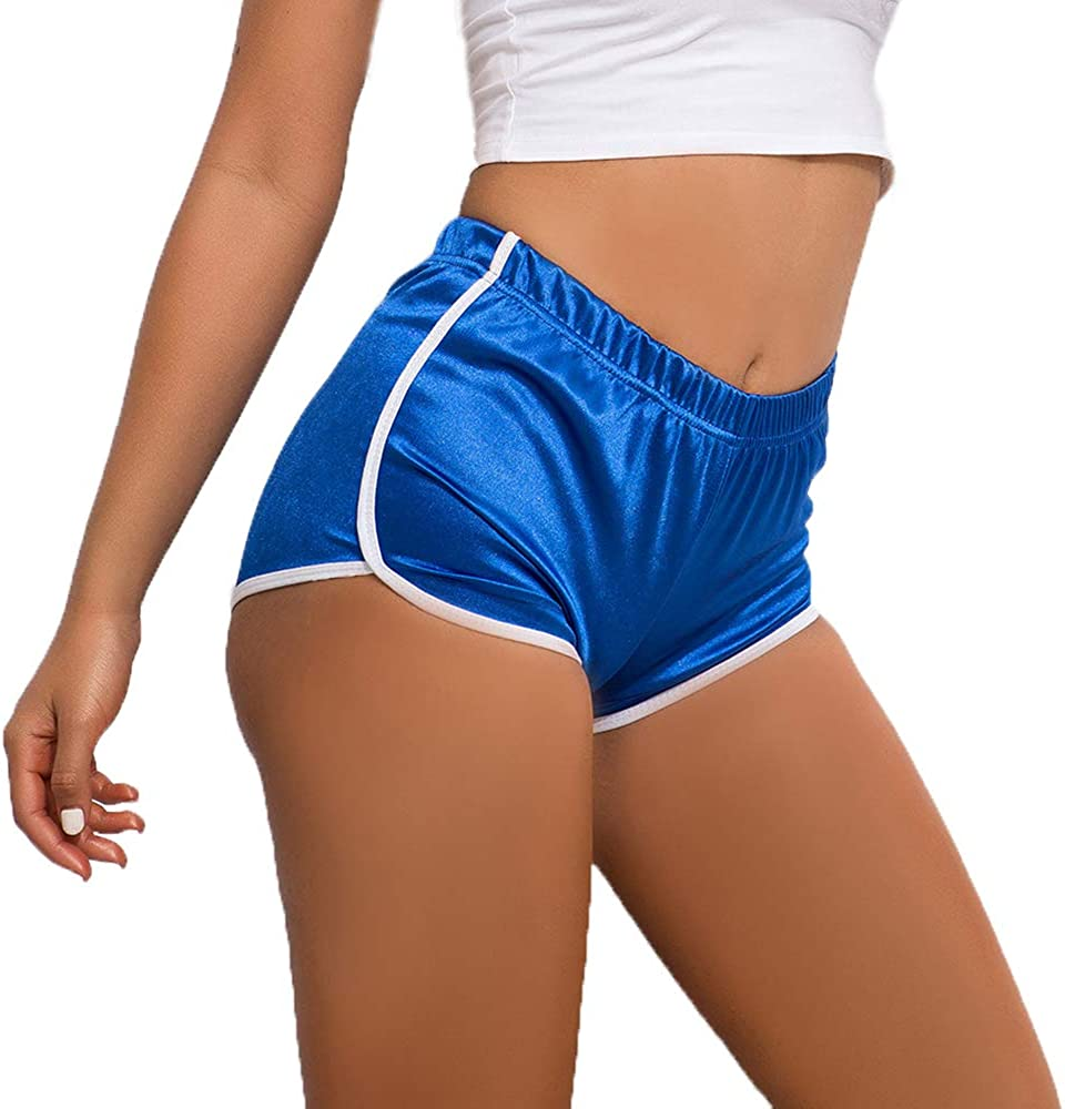 CTAU Women's Denim Shorts Hot Pants Sexy Sports Jeans Yoga Pants