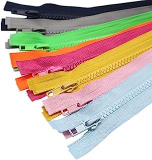 (70cm 10PCS) - YaHoGa 10PCS 28 Inch (70cm) Separating Jacket Zippers for Sewing Coat Jacket Zipper Heavy Duty Plastic Zipp...