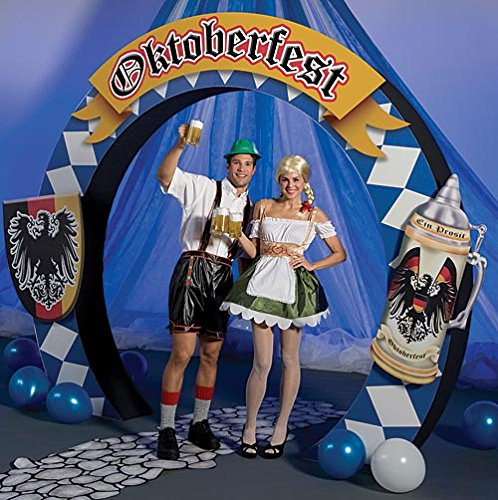 Oktoberfest Party Arch Standup Photo Booth Prop Background Backdrop Party Decoration Decor Scene Setter Cardboard Cutout