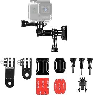 【Taisioner】GoPro HERO7 6 5 4 3+用 ヘルメットマウントアクセサリー 自転車撮影用 バイク撮影用 (黒)