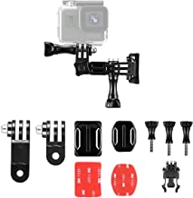 Taisioner Helmet Adjustable Curved Flat Adhesive Mount kit for GoPro Hero 3 3+ 4 5 6 7 8 Black White Silver GoPro Max Session Fusion Action Camera Accessories