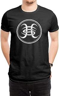 LILILOV Men's T Shirts Heroes Del Silencio White Logo Black