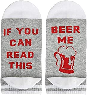 SurBepo Women Watching Christmas Movies Socks, If You Can Read This Socks
