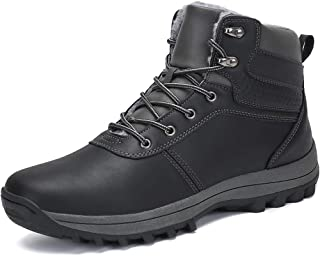 FLARUT Uomo Stivali da Neve Invernali Scarpe Allineato Pelliccia Caloroso Caviglia Piatto Stivaletti Sportive Boots Escurs...