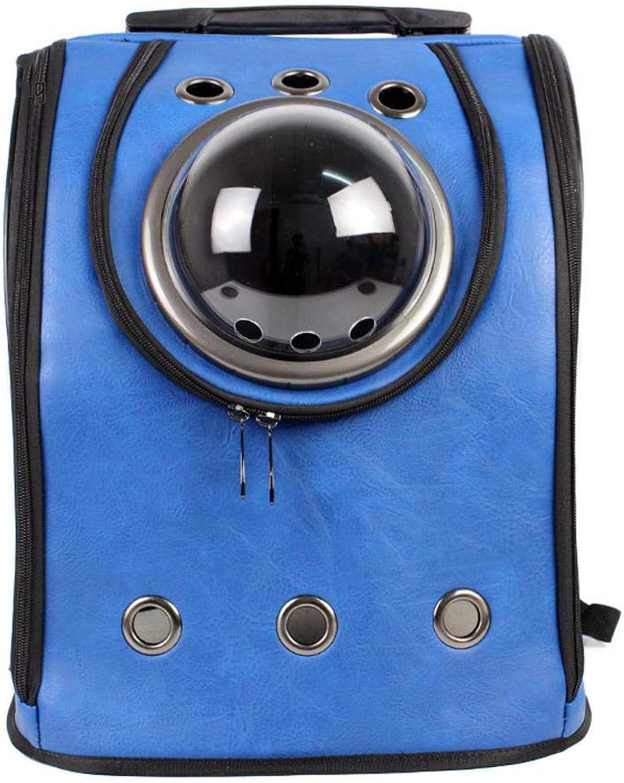 Maerye Pet Backpack breathable pu out portable double shoulder cat bag dog bag pet transport bag suitable for 46 kg or so dog