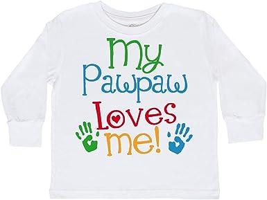 Cute Narwhal Long Sleeve Creeper inktastic My Pawpaw Loves Me
