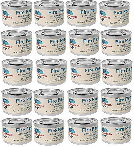 Gastro-Bedarf-Gutheil 20 x Sicherheitsbrennpaste je Dose 200 g Qualitätsprodukt Fire Paste Brennpaste Brenngel Brenndauer ca. 2,5 Std. für Chafing Dish Speisewärmer Warmhaltebehälter Rechaud