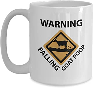 Goat Poop Coffee - Funny Goats Gifts - Dirty Goat - Weird Goat Gift - Dairy Goat Coffee Cup - Crazy Goat Coffee Mug - 3d Goat (15 oz)