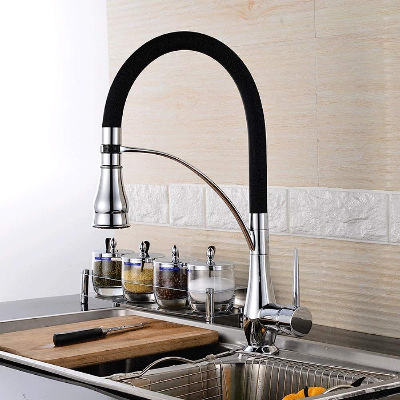 Kupfer kann hei und kalt gedreht werden Küchenhahn Spüle Wasserhahn Doppelhahn