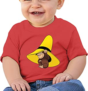 Baby Boy Girls Washed Cotton Shirt Curious George Cute Toddler Kids Summer Funny T Shirt
