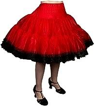 Malco Modes Zooey Luxury Chiffon Adult Petticoat Slip, Lace Trim, Adjustable