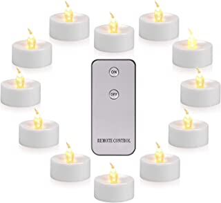 Actpe LED Tea Light, Flameless Flickering Tealight with Remote Control, Long Lasting Battery Operated LED Tealights Candle...