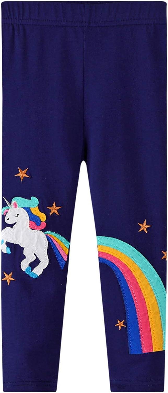Max 90% OFF LINL Girls Stretch Leggings Soft Rainbow Kids Patterns Pants Ank online shopping