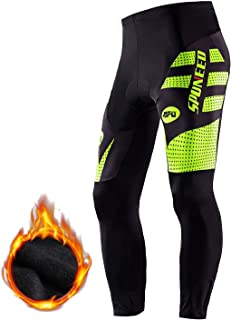 Sponeed Mens Cycling Pants Trousers 3D Gel Padded Mountain Bike Long Shorts Biking Clothing Bicycle Tights