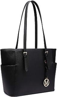 Miss Lulu Women Faux Leather Shoulder Handbag Adjustable Handle Large Tote Bag