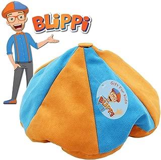 Ameshop Blippi Hat Unisex Children Kids Teenagers Blippi Cap Birthday Party Cosplay Prop Orange